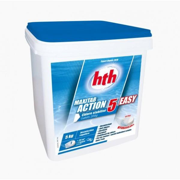 Maxitab action 5 easy chlore stabilise hth sav jedo for Chlore hth piscine
