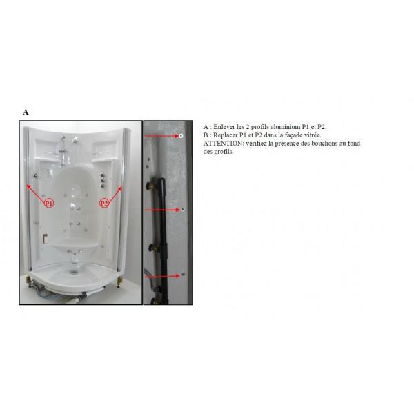 Kit de 2 profils jonction facade vitree paroi acrylique - Kit de reparation baignoire acrylique ...