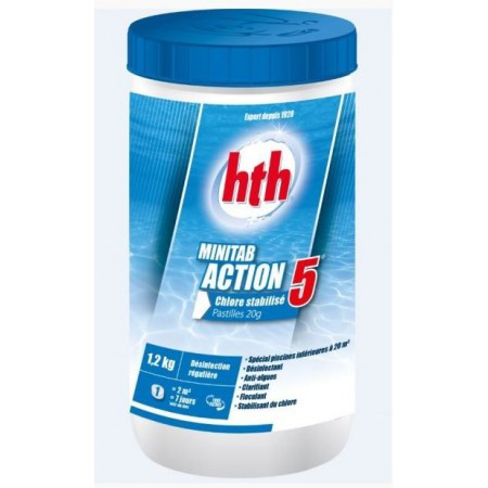 Minitab action 5 chlore stabilise hth sav jedo sav for Chlore hth piscine