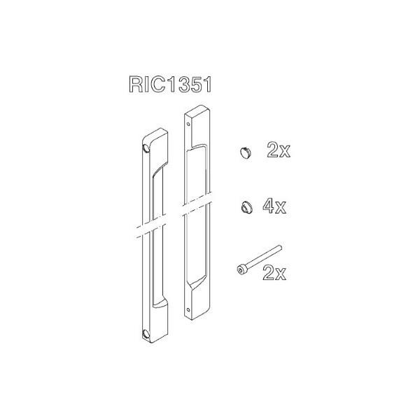 POIGNEE PORTE INOX (1 PANNEAU) - RIC1351