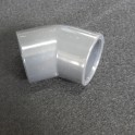 COUDE 45 ° PVC PRESSION Diam. 40mm